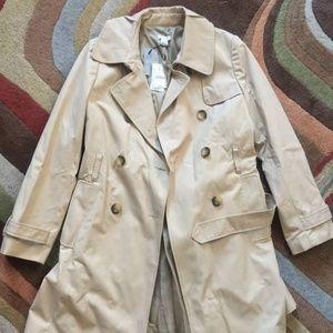 J Crew Womens Factory Trench coat, Petite, Size 4